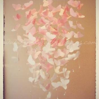 PICK 2 COLORS - OMBRE - Large Vellum Butterfly Mobile